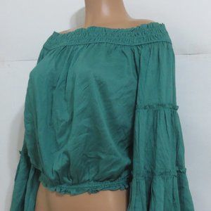 ⭐For Bundles Only⭐Free People Crop Top Green XS